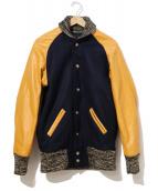 SKOOKUM(スクーカム)の古着「アワードジャケット/スタジャン」|ネイビー×オレンジ
