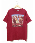 バンドTシャツ(バンドTシャツ)の古着「[古着]90's THE BEATLES バンドTシャツ」|エンジ