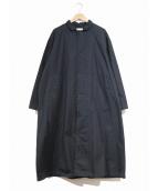 HARVESTY(ハーベスティー)の古着「チノクロスオーバーコート」|ネイビー