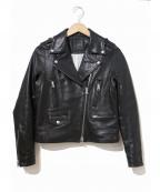 DRWCYS(ドロシーズ)の古着「ラムレザーライダースジャケット」|ブラック