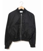 MARGARET HOWELL×FRED PERRY(マーガレットハウエル×フレッドペリー)の古着「コラボブルゾン/ボンバージャケット」|ブラック