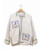 VINTAGE(ヴィンテージ)の古着「[古着]ヴィンテージグアテマラシャツ」|グレー