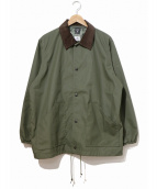 south2 west8(サウスツーウエストエイト)の古着「S2 T/C COACH JACKET」|カーキ
