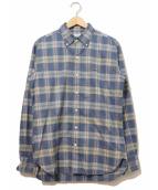 SCYEBASICS(サイベーシックス)の古着「ボタンダウンチェックシャツ」|ネイビー