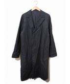 SCYEBASICS(サイベーシックス)の古着「チネン加工リネンステンカラーコート」|ネイビー