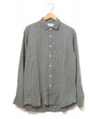 James Mortimer(ジェームス・モルティマー)の古着「リネンシャツ」|カーキ