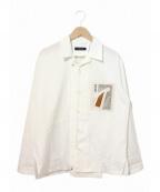 PORTVEL(ポートヴェル)の古着「モチーフワークシャツ」 ホワイト