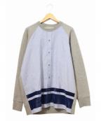 Casely-Hayford(ケイスリーヘイフォード)の古着「ドッキングスウェットシャツ」|ブルー