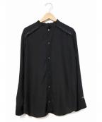 SueUNDERCOVER(スーアンダーカバー)の古着「切替フリルブラウス」|ブラック