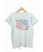 バンドTシャツ(バンドTシャツ)の古着「[古着]80'sロックTシャツ」|ブルー