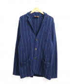 Altea(アルテア)の古着「パイルタッチアンコンジャケット」|ネイビー