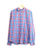 Frank&Eileen(フランクアンドアイリーン)の古着「コットンチェックシャツ」|ブラウン×ブルー