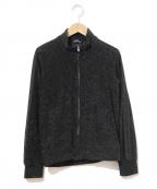 tricot COMME des GARCONS(トリココムデギャルソン)の古着「ラインスリーブシャイニーニットジャケット」 ブラック