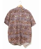 stussy(ステューシ)の古着「80's総柄シャツ」|ブラウン