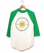 バンドTシャツ(バンドTシャツ)の古着「[古着]80'sバンドラグランカットソー」|ホワイト×グリーン