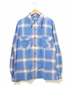 McGREGOR(マクレガー)の古着「[古着]ヴィンテージチェックシャツ」|ブルー