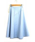 M-premier(エムプルミエ)の古着「ワンサイドタックステンスカート」|ブルー