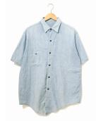 US NAVY(ユーエスネイビー)の古着「ヴィンテージミリタリーシャンブレーシャツ」|ブルー