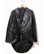 ISAMU KATAYAMA BACKLASH(イサムカタヤマバックラッシュ)の古着「レザー燕尾ジャケット」|ブラック