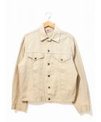 LEVIS(リーバイス)の古着「[古着]トラッカージャケット/ピケジャケット」|ベージュ