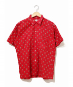 TOWN CRAFT(タウンクラフト)の古着「[古着]ヴィンテージ総柄シャツ」 レッド