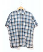 ()の古着「[古着]ボックスチェックシャツ」|ブルー