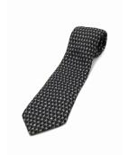 HERMES(エルメス)の古着「ネクタイ」|ブラック×ホワイト