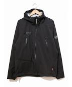 MAMMUT(マムート)の古着「マサオライトハードシェルフードジャケット」|ブラック