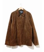 POLO RALPH LAUREN(ポロラルフローレン)の古着「[古着]スエードジャケット」|ブラウン