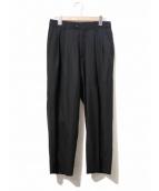 yokosakamoto(ヨーコサカモト)の古着「2タックワイドパンツ」|ブラック