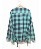 OLD PARK(オールドパーク)の古着「プルオーバーネルシャツ」|ブルー×ネイビー