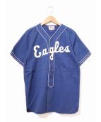 Wilson(ウィルソン)の古着「[古着]ヴィンテージベースボールシャツ」|ブルー