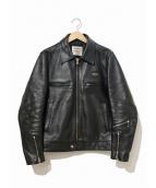 Lewis Leathers(ルイスレザーズ)の古着「シングルレザーライダースジャケット」|ブラック