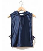 Engineered Garments(エンジニアードガーメン)の古着「フーデットベスト」|ネイビー