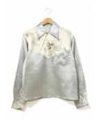 VINTAGE(ヴィンテージ/ビンテージ)の古着「[古着]ヴィンテージスカシャツ」|シルバー