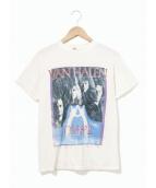 バンドTシャツ(バンドTシャツ)の古着「[古着]80's VAN HALEN バンドTシャツ」|ホワイト