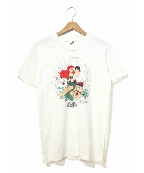 THE LITTLE MARMAID(リトル・マーメイド)THE LITTLE MARMAID (リトル・マーメイド) [古着]90sプリントTシャツ ホワイト サイズ:L リトルマーメイド・デッドストック・90'sの古着・服飾アイテム