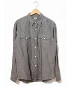 PHIGVEL(フィグベル)の古着「コットンリネンシャンブレーシャツ」 グレー