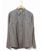 PHIGVEL(フィグベル)の古着「コットンリネンシャンブレーシャツ」|グレー
