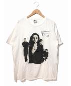 バンドTシャツ(バンドTシャツ)の古着「[古着]90's depeche mode バンドTシャツ」|ホワイト