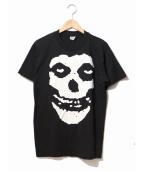 バンドTシャツ(バンドTシャツ)の古着「[古着]80's misfits バンドTシャツ」|ブラック