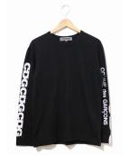 GOOD DESIGN SHOP COMME des GARCONS(グッドデザインショップ コムデギャルソン)の古着「スリーブロゴカットソー」|ブラック