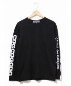 GOOD DESIGN SHOP COMME des GARCONS()の古着「スリーブロゴカットソー」 ブラック