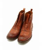 SARTORE(サルトル)の古着「シューレースレスウィングチップブーツ」|ブラウン
