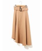 AMERI(アメリヴィンテージ)の古着「ベルテッドマキシスカート」|ベージュ