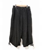 YohjiYamamoto pour homme()の古着「レーヨンカラスパンツ」|ブラック