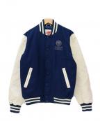 Franklin & Marshall(フランクリンマーシャル)の古着「アワードジャケット」|ネイビー×ホワイト
