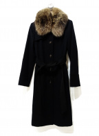 BALLSEY(ボールジィー)の古着「ファーカシミヤ混コート」|ブラック