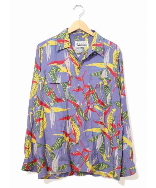 WACKO MARIA(ワコマリア)WACKO MARIA (ワコマリア) レーヨンアロハシャツ ブルー×イエロー サイズ:M 19SS HAWAIIAN SHIRT L/S TYPE-6の古着・服飾アイテム