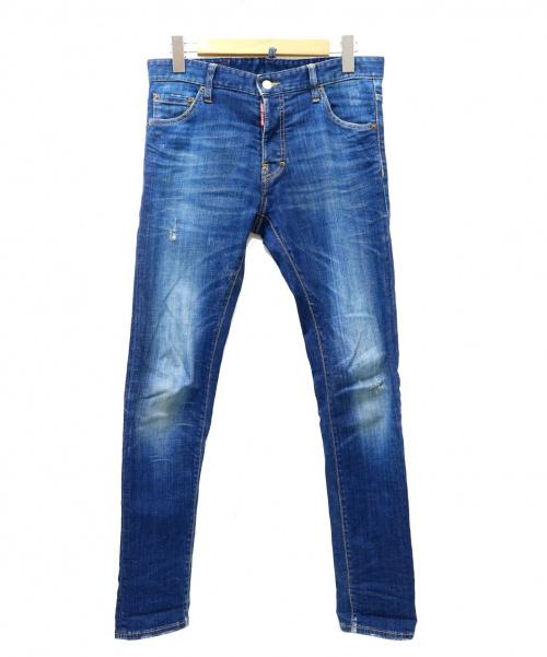 DSQUARED2(ディースクエアード)DSQUARED2 (ディースクエアード) デニムパンツ インディゴ サイズ:46の古着・服飾アイテム